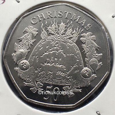2016 IOM Xmas Diamond Finish 50p Coin