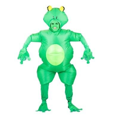 Adult Frog Animal Toad Pond Garden Halloween Fancy Dress Costume Male Female - Frog Adult Costume
