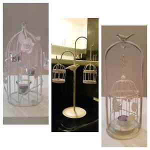 White Metal Cages and Lantern, Rustic / Shabby Albion Brimbank Area Preview