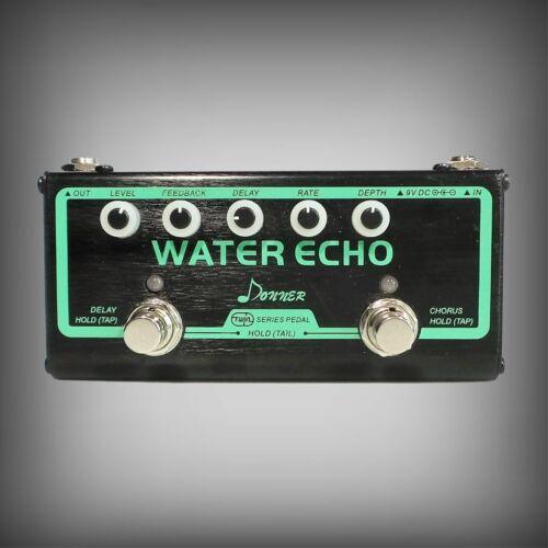 🎸 DONNER  WATER ECHO TWIN SERIES MULTI GUITAR EFFECT ECHO DELAY/CHORUS PEDAL