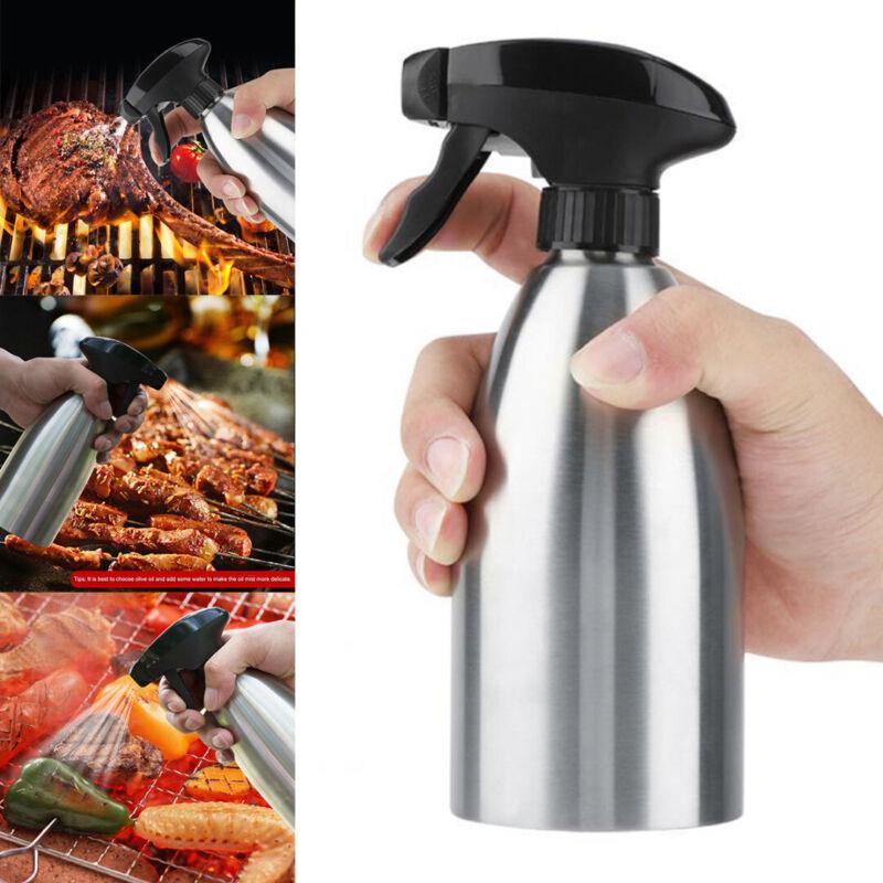 16oz Stainless Steel Kitchen Oil Spray Bottle Olive Oil Spra