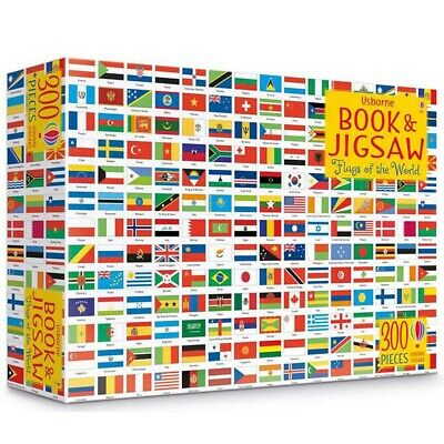 Usborne Book and Jigsaw Kids colouring Flags of the World