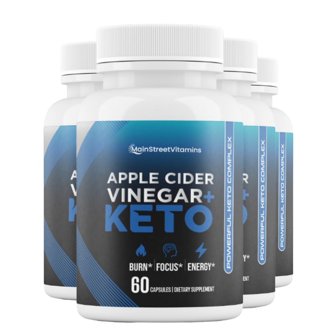 4 Keto Apple Cider Vinegar Diet Pills,Weight Loss,Fat Burner - 60 Capsules x 4