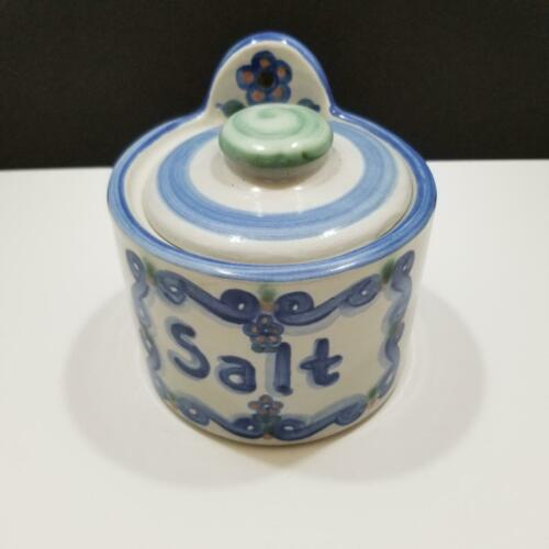 M.A. Hadley Folk Art Pottery Salt Canister