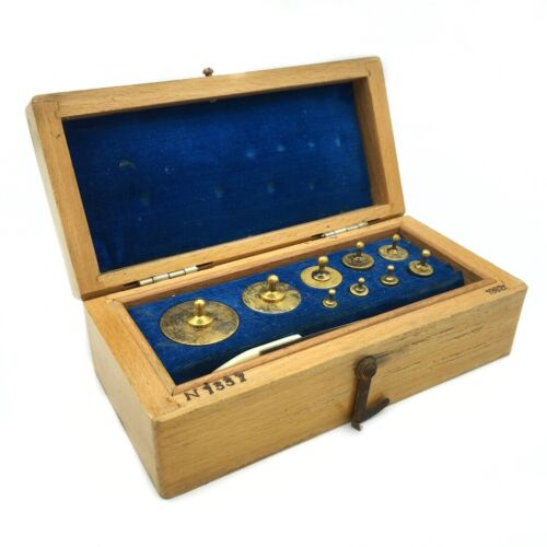 Vintage Soviet Analytical Calibration Weight Set Gosmeter Brass USSR Rare 100-1g