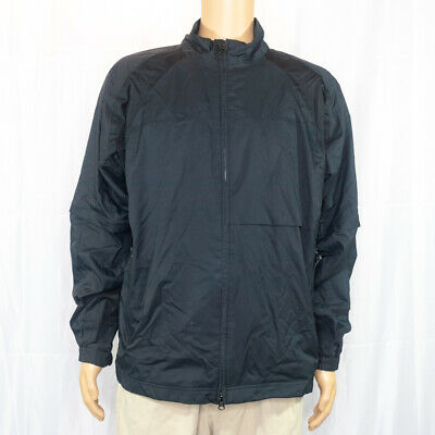 Men's Adidas Clima Proof Storm Full Zip Black Athletic Jacket Mesh Lining Sz Med Adidas Black Storm Jacket