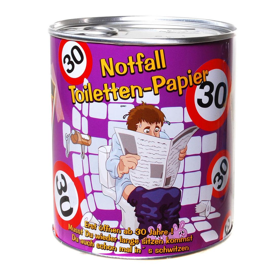 Toilettenpapier in Dose 18 - 60 Geburtstag Geschenk Klopapier Scherzartikel