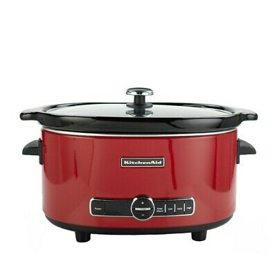 KitchenAid Slow Cooker 6-Quart with Glass Lid