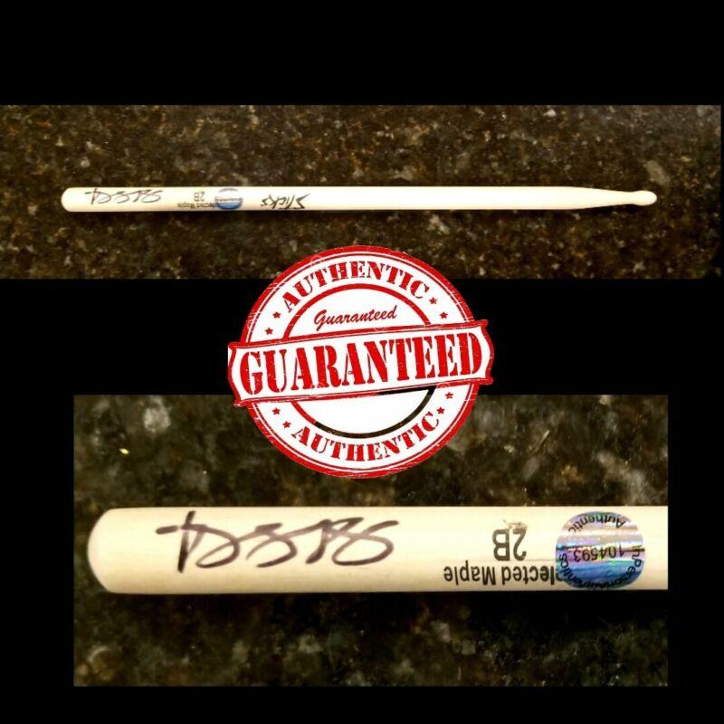 TRAVIS BARKER Blink 182 Drummer Hand Signed DRUMSTICK Authentic Autograph + COA!
