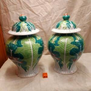 Two Hand-Painted Ginger Jars Newcastle Newcastle Area Preview