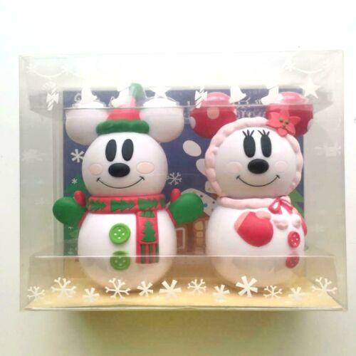 TOKYO Disney Christmas snowman Mickey&Minnie candy case accessory case snow 2009