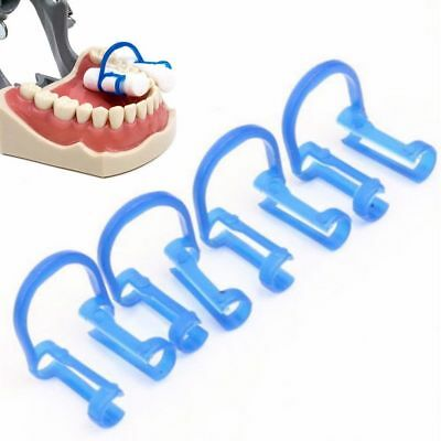20 Pcs Dental Disposable Cotton Roll Clip Holder Isolate Teeth Blue Clinic