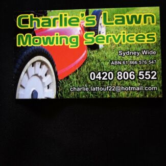 Charlie's lawn mowing services  Starting from  $60