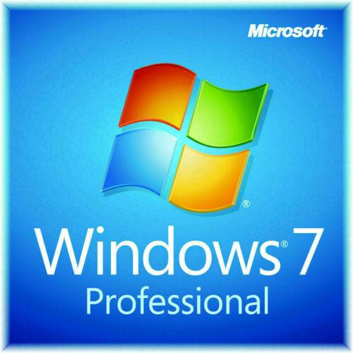 Microsoft Windows 7 Professional PRO 32 64 Full Version SP1 Product Key + DVD
