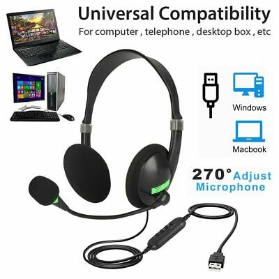 USB Gaming Microphone Headset for Laptop USB