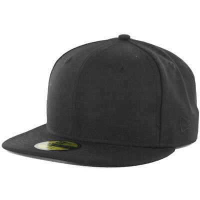 как выглядит Медицинский колпак, шапка и шляпа New Era Plain Tonal 59Fifty Fitted Hat (Black) Mens Blank Cap фото