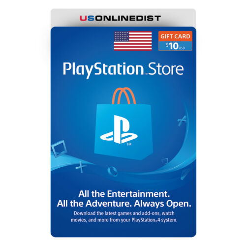 Sony Playstation Network $10 USD Card - PSN 10 Dollar - PS4 PS3 PSP USA Only