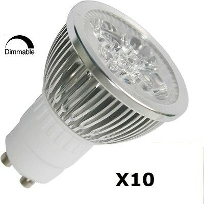 10pcs Pack Dimmable 110V 4W GU10 LED Light Bulb - 7000K Daylight LED Spotlight
