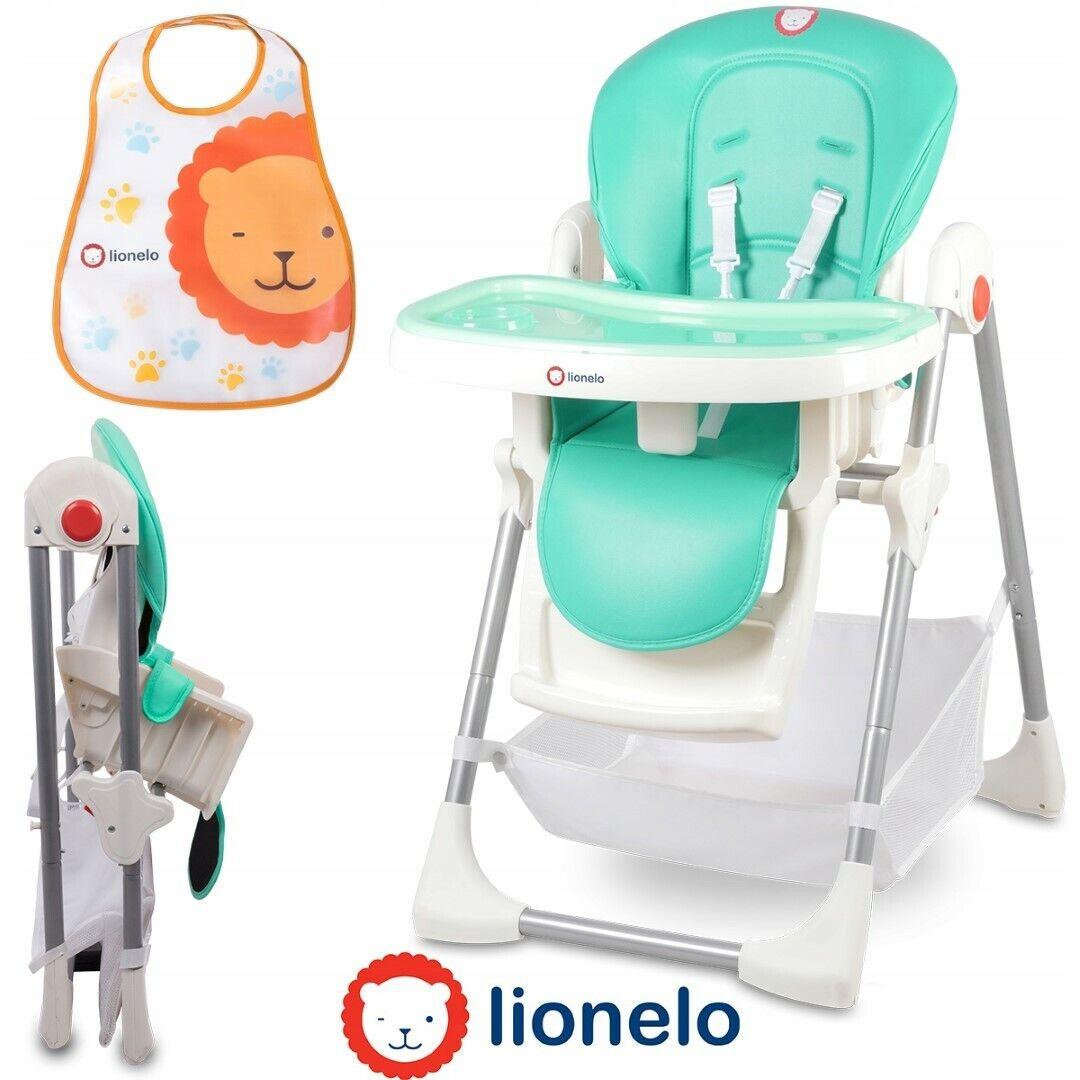 Lionelo Linn+ Baby Hochstuhl Kinder Stuhl Lehne&Höhe Verstellbar klappbar Türkis