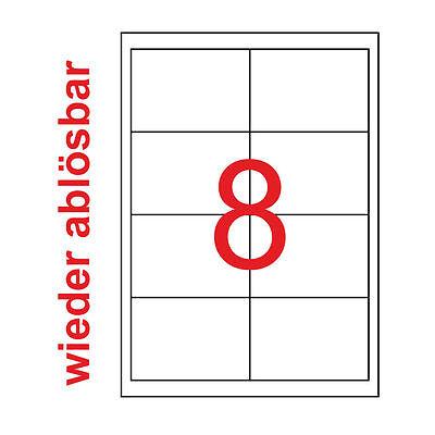 32 Etiketten 97x67,7mm Aufkleber wiederablösbar 4 Blatt A4 97x67 Kores