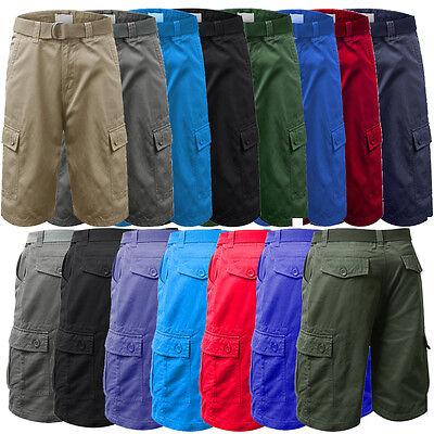 mens cargo shorts  size 30 32 34 36 white red blue kahki black