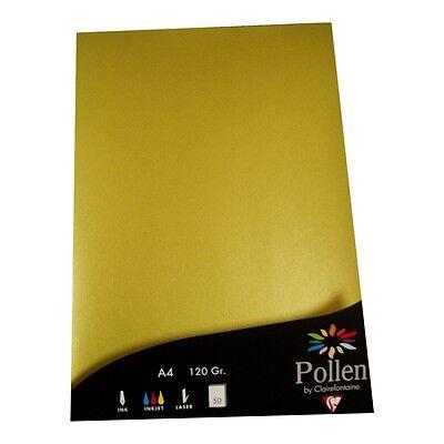 50 Blatt A4 Gold Papier Clairefontaine Metallic Goldenes 120g Goldpapier