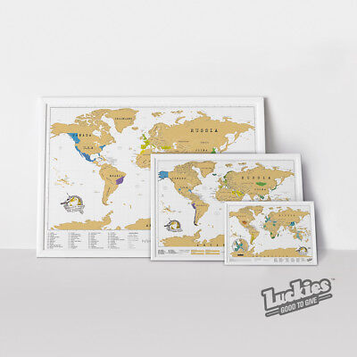 Scratch Map ® Travel Scratch off World Map Poster by INVENTORS OF SCRATCH MAPS
