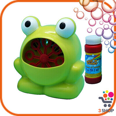 Macchina delle bolle di sapone a batteria per bambini festa compleanno rana frog