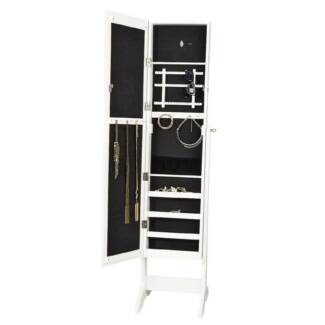 Full Length Mirror white Jewelry Cabinet in Great Condition.