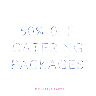 50% off catering packages