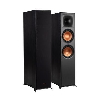 "Klipsch R-820F Dual 8"" spun-copper IMG woofers floorstanding speaker - Ebony"