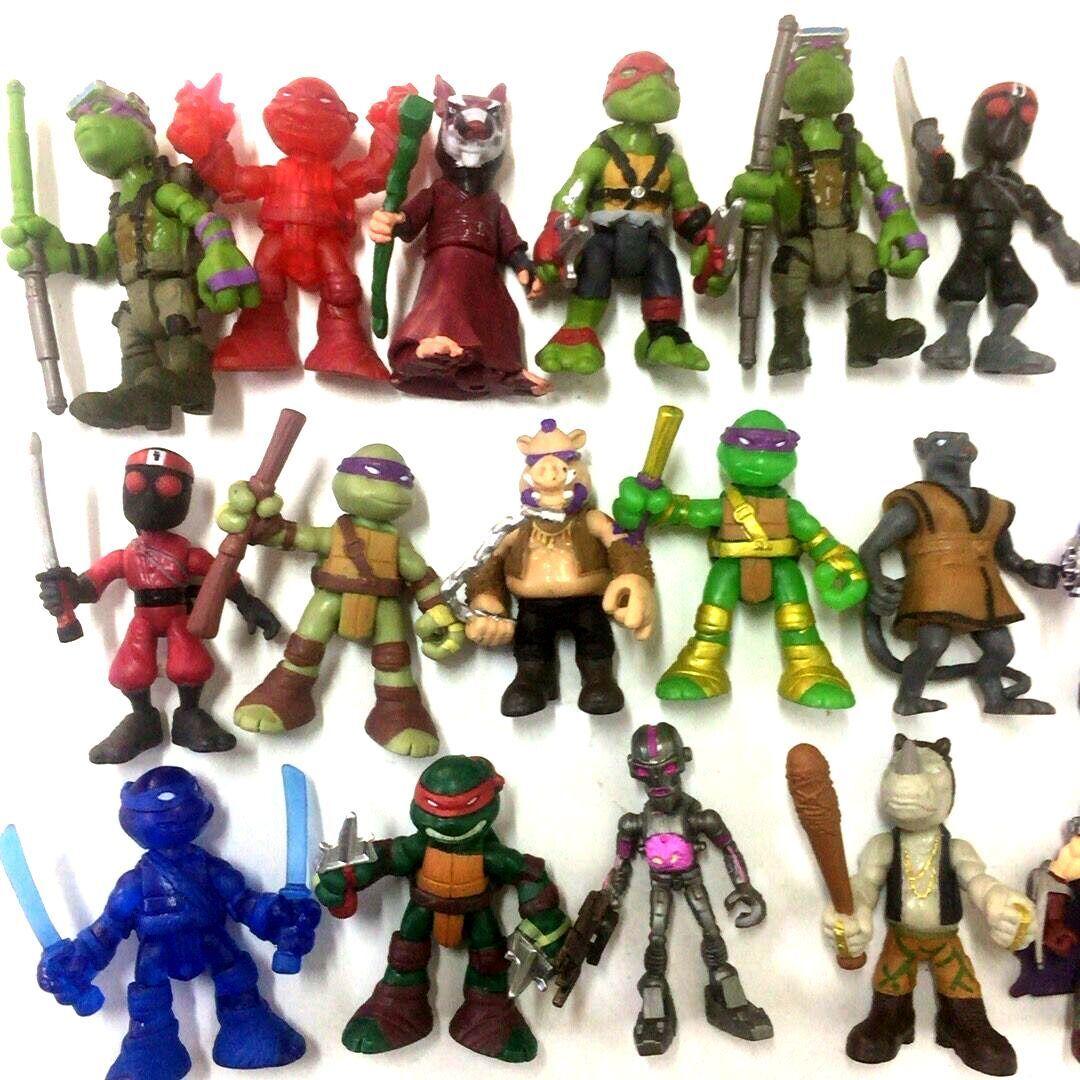 Lot 4PCS TMNT Rooftop Ruckus Teenage Mutant Ninja Turtles Splinter Leonardo toys