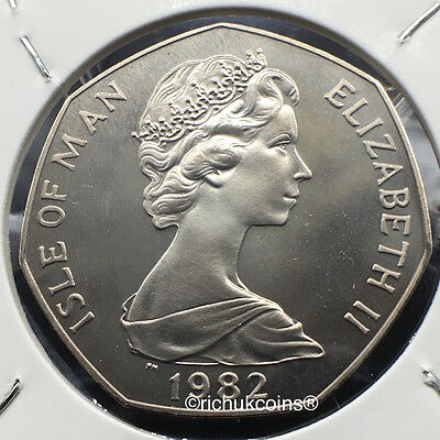 1982 IOM Xmas 50p Diamond Finish Coin with BB die marks