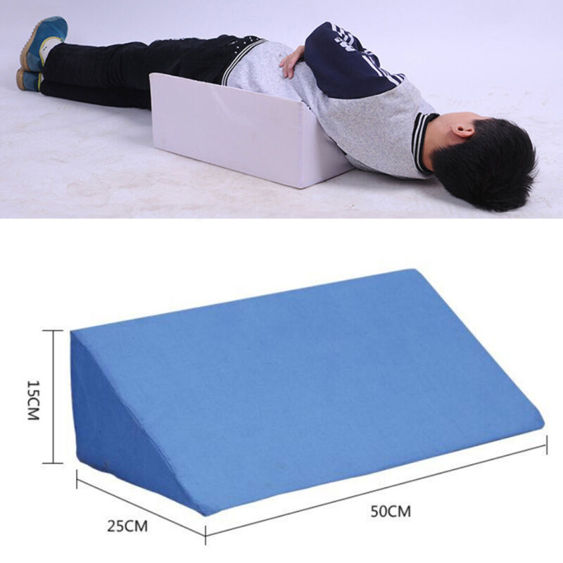 pillow - Acid Reflux Foam Bed Wedge Pillow Leg Elevation Back Lumbar Support Cushions