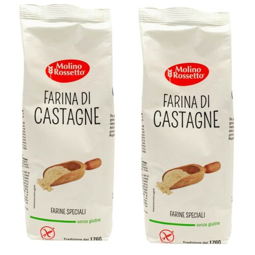 CHESTNUT FLOUR GLUTEN-FREE- IMPORTED FROM ITALY - 14,11 OZ (400 G) - 2 PACKS