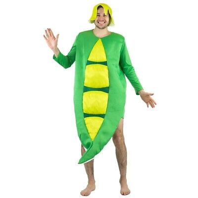Adult Mens Ladies Womens Funny Pea-pod Food Drink Fancy Dress Costume Outfit Hen