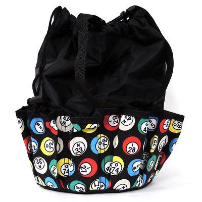 - 10 Pocket Bingo Bag Black Bingo Ball Print