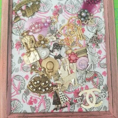 Vintage and Contemporary Jewelry Art framed