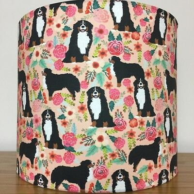 Bernese Mountain Dog Print Fabric Lampshade
