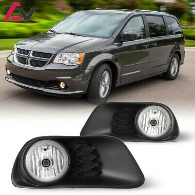 11-19 For Dodge Grand Caravan Clear Lens Pair Fog Light Lamp+Wiring+Switch DOT
