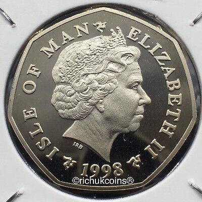1998 IOM Xmas Diamond Finish 50p Coin