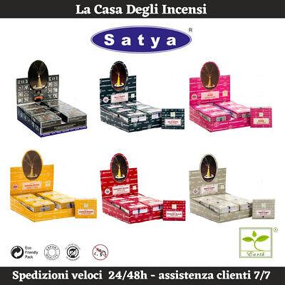 Coni d'incenso Satya - Palo Santo Nag Champa Salvia Bianca Sandalo Super Hit