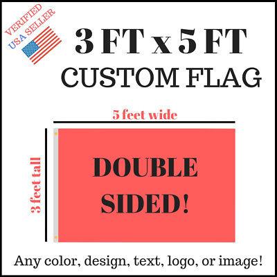 Custom 3x5 Full Color Double Sided Custom Flag Usa Seller Fast Communication