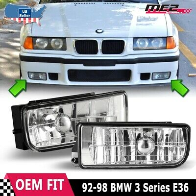 For BMW 3 Series E36 M3 1992-1998 Factory Replacement Fit Fog Lights Clear Lens