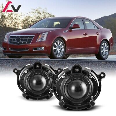 For Cadillac CTS 08-13 Clear Lens Pair Bumper Fog Light Lamp OE Replacement DOT