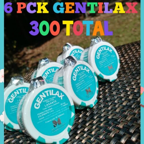 Gentilax 6pck laxative laxante exp 2022 constipation 100% ORIGINAL fast shipping