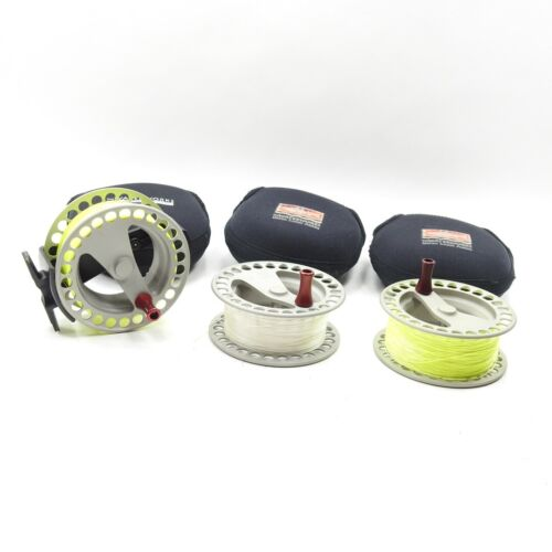 Lamson Waterworks ULA Force 3 Fly Fishing Reel. W/ 2 Spare Spools and Cases.