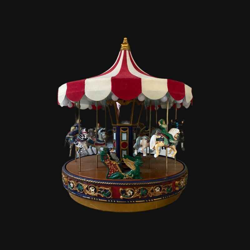 Mr. Christmas Tradtional Carousel Velvet Top Spins and Plays Music