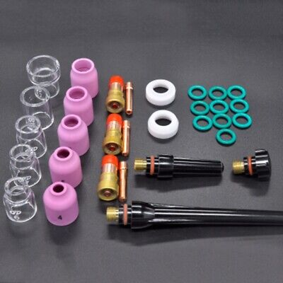 Us 31pcs Tig Welding Torch Accessories 612 Glass Cup For Wp-171826 Torch