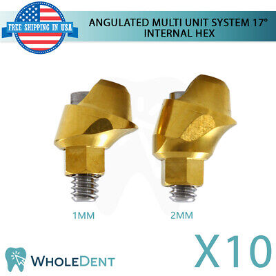 10x Angulated Abutment Multi Unit System 17 Titanium Dental Implant Int Hex